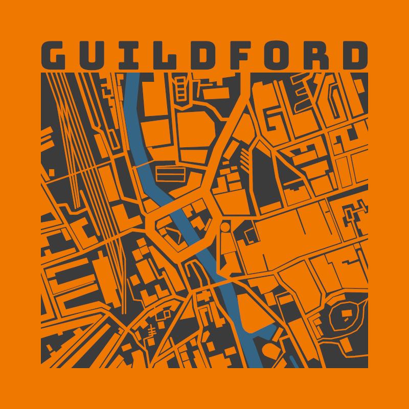 Guildford Map Orange