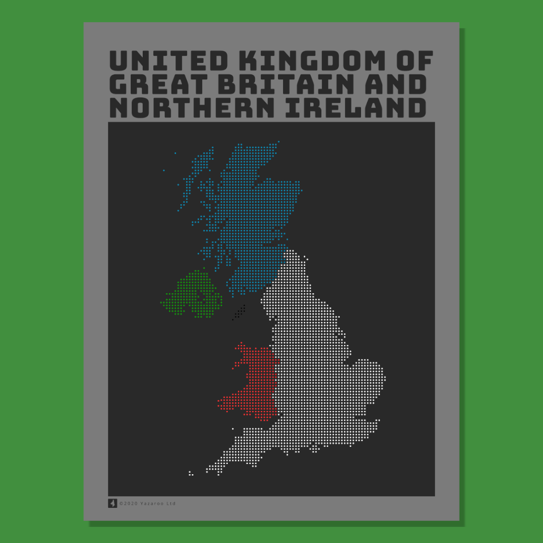 UK Map Poster Nations